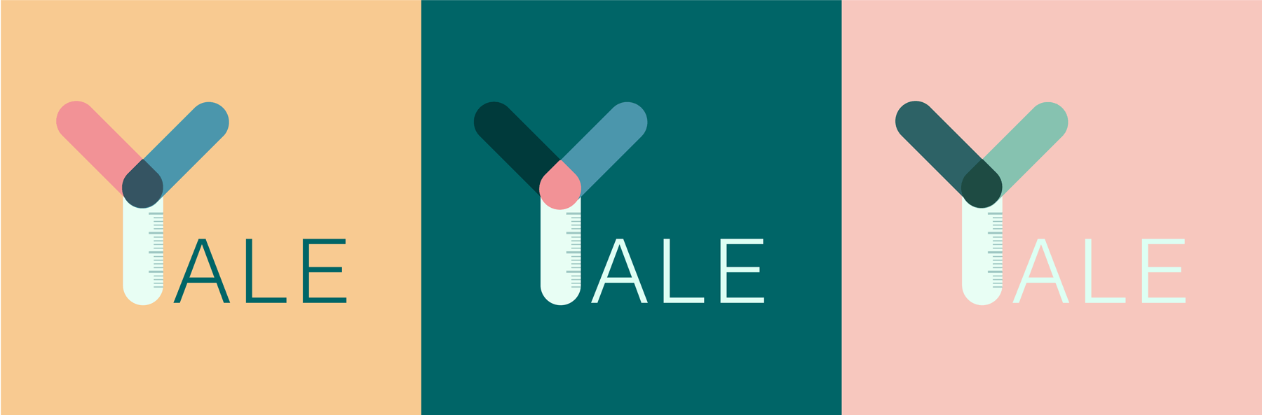 Three colour palettes for Yale iGem.